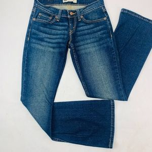 Levis 524 Womens Jeans 0 S/C Blue Too Superlow